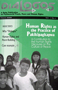 Dialogos Vol. 1, Num. 1: Human Rights as the Practice of Pakikipagkapwa